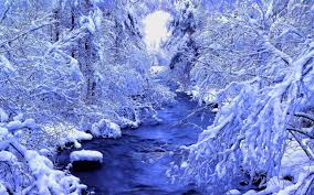 river in the beautiful winter forest walldevil