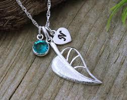 silver leaf necklace pendant images Silver leaf pendant etsy jpg