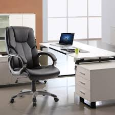 Ergonomic Desk by Office Chair High Back Pu Leather Computer Ergonomic Desk Swivel