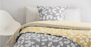 grey mustard duvet cover scandi style trio made com