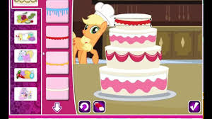 my little pony games play applejacks wedding cake creator