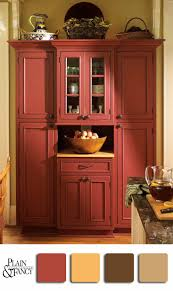 Red Cabinet Kitchen Love This Red Hutch I Like The Color Palette Except For The