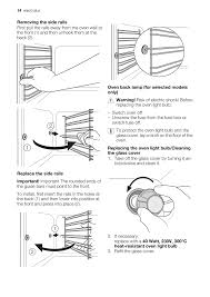 electrolux oven light bulb electrolux eou43003 user manual page 14 24
