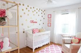 Polka Dot Curtains Nursery Marion S Coral And Gold Polka Dot Nursery Project Nursery