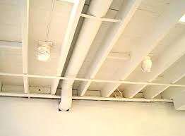 painted unfinished basement ceilings home design