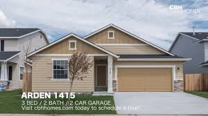 3 Door Garage by Cbh Homes Arden 1415 3 Bed 2 Bath 2 Car Garage Youtube