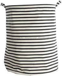 house doctor laundry basket stripes black