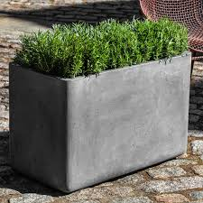 Concrete Rectangular Planter by Campania International Urban Rectangle Planter Set Of 2 Hayneedle