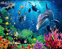 online get cheap children wall murals wallpaper aliexpress com beibehang children bedroom decoration painting 3d wallpaper dolphin shark whale cartoon children room wall murals wallpaper