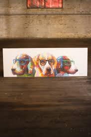 Paint Colorful - oil painting colorful dogs with glasses