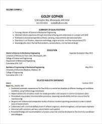 Engineering Resumes Examples by 31 Professional Engineering Resume Templates Free U0026 Premium