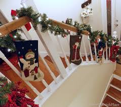 Christmas Banisters My Christmas Staircase U2022 Sweet Parrish Place