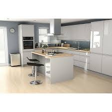 grey kitchen cabinets b q it kitchens marletti gloss dove grey cabinet door w 250mm pack of 2