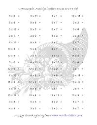 math fact thanksgiving worksheets festival collections
