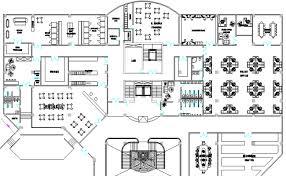 hotel floor plan dwg layout plan with furniture detail