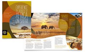 tri fold brochure publisher template travel tourism brochures flyers word publisher templates