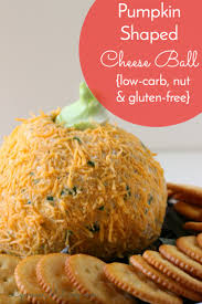 Fun Halloween Appetizer Recipes by Halloween Pumpkin Shaped Cheese Ball Recipe Low Carb Gluten Free