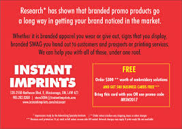 Instant Business Card Printing Embroidery And Printing Shop Instant Imprints Mississauga East