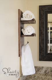 Towel Rack Ideas For Bathroom Diy Towel Holder Shanty 2 Chic