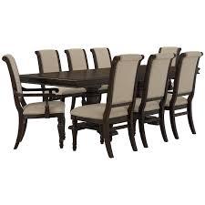 dining room trestle table city furniture sterling dark tone trestle table u0026 4 upholstered