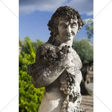 dionysus greek god statue dionysus greek god of wine gl stock images