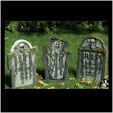 large halloween tombstones x 3 mad about horror