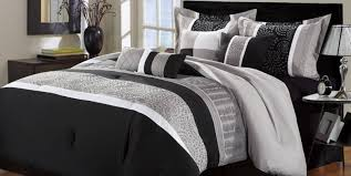 Jcpenney Comforters Bedding Set Elegant Looks Black White Bedding Queen Amazing