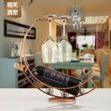 creative metal wine wine rack holder hanging wine glass holder