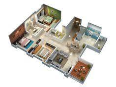 3 Bedroom Bungalow Floor Plans Modern Bungalow Floor Plan 3d Small 3 Bedroom Floor Plans House