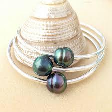 pearl fashion bracelet images Authentic tahitian pearl bangle bracelet aloha bangles jpg