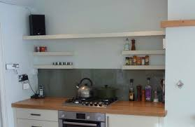 attractive open wooden shelves for kitchen windows modern