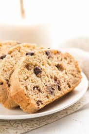 healthy small batch chocolate chip banana bread 93 calories