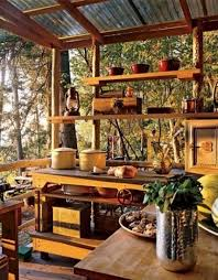 Small Kitchen Design Ideas Natural View In Rustic Small Kitchen With Wooden Countertop And