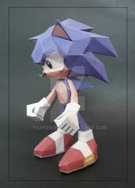 Sonic The Hedgehog Papercraft - sonic the hedgehog papercraft template show more images pics