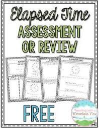 telling time assessment worksheet 39 best elapsed time images on teaching ideas