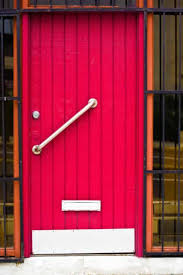 Exterior Pine Doors Screaming Pink Plank And Batten Wooden Exterior Door With