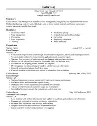 Maintenance Resume Examples Best Farmer Resume Example Livecareer