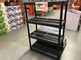 Plastic Shelving Unit by Hdx 4 Tier Plastic Storage Shelving Only 19 88 At Home Depot