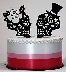 skull cake topper day of the dead skull cake topper with ring heart base ceramic