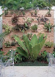 a garden to a wall weird but cool