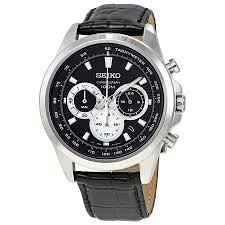 seiko neo sports chronograph black dial men u0027s watch ssb249 from