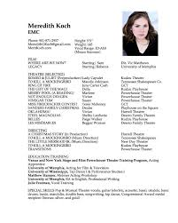 Acting Resume Examples Beginners Actor Resume Pdf Acting Resume Template Is Very Useful For You