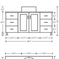 Standard Bathroom Cabinet Sizes by Bathroom Cabinet Measurements Themesfy Com