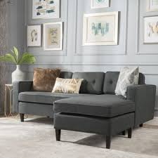Straight Sectional Sofas Ave Six Russell Reversible Chaise Sectional Sofa Free Shipping