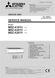 mitsubishi electric air conditioner remote control manual air