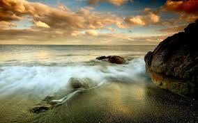 scenery beautiful sea waves landscape high quality