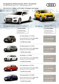 mazda price list singapore motorshow 2017 audi price list deals promotions and