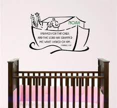 Name Wall Decals For Nursery by Scripture Wall Decal Noahs Ark Nursery Bible Verse Wall Art