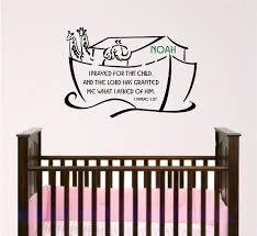 Custom Wall Decals For Nursery by Scripture Wall Decal Noahs Ark Nursery Bible Verse Wall Art