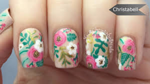 floral antique nails tutorial youtube